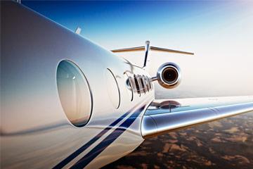 private jet take off